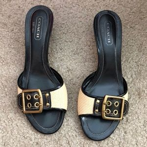 Preowned Coach heeled sandals size 8
